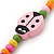 Children's Multicoloured Ladybug Wooden Flex Necklace & Flex Bracelet Set - view 5