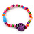 Children's Multicoloured Ladybug Wooden Flex Necklace & Flex Bracelet Set - view 3
