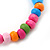 Children's Multicoloured Ladybug Wooden Flex Necklace & Flex Bracelet Set - view 6