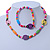 Children's Multicoloured Ladybug Wooden Flex Necklace & Flex Bracelet Set - view 2