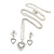 Clear Austrian Crystal Double Heart Pendant With Silver Tone Chain and Stud Earrings Set - 40cm L/ 5cm Ext - Gift Boxed - view 7
