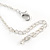 Clear Austrian Crystal Double Heart Pendant With Silver Tone Chain and Stud Earrings Set - 40cm L/ 5cm Ext - Gift Boxed - view 6