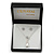 Clear Austrian Crystal Simulated Pearl Pendant with Silver Tone Chain and Stud Earrings Set - 46cm L/ 5cm Ext - Gift Boxed - view 3
