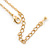 Classic Clear Austrian Crystal Simulated Button Pearl Pendant With Gold Tone Chain and Stud Earrings Set - 46cm L/ 5cm Ext - Gift Boxed - view 5