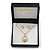 Classic Clear Austrian Crystal Simulated Button Pearl Pendant With Gold Tone Chain and Stud Earrings Set - 46cm L/ 5cm Ext - Gift Boxed - view 2