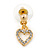 Clear Austrian Crystal Double Heart Pendant With Gold Tone Chain and Stud Earrings Set - 40cm L/ 5cm Ext - Gift Boxed - view 12