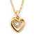 Clear Austrian Crystal Double Heart Pendant With Gold Tone Chain and Stud Earrings Set - 40cm L/ 5cm Ext - Gift Boxed - view 14
