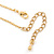 Clear Austrian Crystal Simulated Pearl Pendant with Gold Tone Chain and Stud Earrings Set - 46cm L/ 5cm Ext - Gift Boxed - view 7