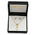 Clear Austrian Crystal Simulated Pearl Pendant with Gold Tone Chain and Stud Earrings Set - 46cm L/ 5cm Ext - Gift Boxed - view 4