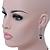 Bridal/ Prom/ Wedding Black/ Grey/ Clear Crystal V-shape Necklace, Bracelet and Drop Earrings Set In Black Tone - Necklace 34cm L/ 12cm Ext, Bracelet - view 4
