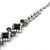 Bridal/ Prom/ Wedding Black/ Grey/ Clear Crystal V-shape Necklace, Bracelet and Drop Earrings Set In Black Tone - Necklace 34cm L/ 12cm Ext, Bracelet - view 12