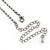 Bridal/ Prom/ Wedding Black/ Grey/ Clear Crystal V-shape Necklace, Bracelet and Drop Earrings Set In Black Tone - Necklace 34cm L/ 12cm Ext, Bracelet - view 6