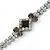 Bridal/ Prom/ Wedding Black/ Grey/ Clear Crystal V-shape Necklace, Bracelet and Drop Earrings Set In Black Tone - Necklace 34cm L/ 12cm Ext, Bracelet - view 16