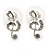 Clear Austrian Crystal Treble Clef Pendant With Silver Tone Chain and Stud Earrings Set - 46cm L/ 5cm Ext - Gift Boxed - view 8