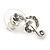Clear Austrian Crystal Treble Clef Pendant With Silver Tone Chain and Stud Earrings Set - 46cm L/ 5cm Ext - Gift Boxed - view 9