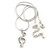 Clear Austrian Crystal Treble Clef Pendant With Silver Tone Chain and Stud Earrings Set - 46cm L/ 5cm Ext - Gift Boxed - view 10