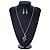 Diamante 'Treble Clef' Pendant With Long Silver Tone Chain & Drop Earrings Set - 72cm Length/ 4cm Extension - view 3