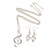 Diamante 'Treble Clef' Pendant With Long Silver Tone Chain & Drop Earrings Set - 72cm Length/ 4cm Extension - view 2