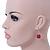 Fuchsia Ceramic Bead Necklace, Flex Bracelet & Drop Earrings In Silver Tone - 42cm L/ 5cm Ext - view 7