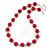 Fuchsia Ceramic Bead Necklace, Flex Bracelet & Drop Earrings In Silver Tone - 42cm L/ 5cm Ext - view 9