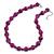 Violet Purple Marble Colour Ceramic Bead Necklace, Flex Bracelet & Drop Earrings Set In Silver Tone - 40cm L/ 5cm Ext - view 9