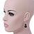 Black, Grey Marble Colour Ceramic Bead Necklace, Flex Bracelet & Drop Earrings Set In Silver Tone - 40cm Length/ 5cm Extension - view 4