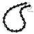 Black, Grey Marble Colour Ceramic Bead Necklace, Flex Bracelet & Drop Earrings Set In Silver Tone - 40cm Length/ 5cm Extension - view 10