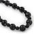Black, Grey Marble Colour Ceramic Bead Necklace, Flex Bracelet & Drop Earrings Set In Silver Tone - 40cm Length/ 5cm Extension - view 11