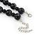 Black, Grey Marble Colour Ceramic Bead Necklace, Flex Bracelet & Drop Earrings Set In Silver Tone - 40cm Length/ 5cm Extension - view 6