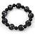Black, Grey Marble Colour Ceramic Bead Necklace, Flex Bracelet & Drop Earrings Set In Silver Tone - 40cm Length/ 5cm Extension - view 7