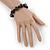 Black, Grey Marble Colour Ceramic Bead Necklace, Flex Bracelet & Drop Earrings Set In Silver Tone - 40cm Length/ 5cm Extension - view 5