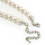 Classic 9mm Glass Pearl, Black Crystal Bead Necklace, Flex Bracelet & Drop Earrings Set - 42cm Length/ 4cm Extension - view 6
