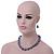 Light Grey Marble Colour Ceramic Bead Necklace, Flex Bracelet & Drop Earrings Set In Silver Tone - 40cm Length/ 5cm Extension - view 5