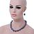 Light Grey Marble Colour Ceramic Bead Necklace, Flex Bracelet & Drop Earrings Set In Silver Tone - 40cm Length/ 5cm Extension - view 3