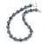 Light Grey Marble Colour Ceramic Bead Necklace, Flex Bracelet & Drop Earrings Set In Silver Tone - 40cm Length/ 5cm Extension - view 10