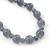Light Grey Marble Colour Ceramic Bead Necklace, Flex Bracelet & Drop Earrings Set In Silver Tone - 40cm Length/ 5cm Extension - view 11