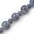 Light Grey Marble Colour Ceramic Bead Necklace, Flex Bracelet & Drop Earrings Set In Silver Tone - 40cm Length/ 5cm Extension - view 12