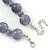 Light Grey Marble Colour Ceramic Bead Necklace, Flex Bracelet & Drop Earrings Set In Silver Tone - 40cm Length/ 5cm Extension - view 7