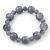 Light Grey Marble Colour Ceramic Bead Necklace, Flex Bracelet & Drop Earrings Set In Silver Tone - 40cm Length/ 5cm Extension - view 8