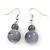 Light Grey Marble Colour Ceramic Bead Necklace, Flex Bracelet & Drop Earrings Set In Silver Tone - 40cm Length/ 5cm Extension - view 9