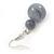 Light Grey Marble Colour Ceramic Bead Necklace, Flex Bracelet & Drop Earrings Set In Silver Tone - 40cm Length/ 5cm Extension - view 13