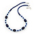 Royal Blue/ Light Blue Ceramic, Glass Bead Necklace, Flex Bracelet & Drop Earrings Set In Silver Tone - 42cm L/ 4cm Ext - view 9