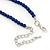 Royal Blue/ Light Blue Ceramic, Glass Bead Necklace, Flex Bracelet & Drop Earrings Set In Silver Tone - 42cm L/ 4cm Ext - view 6