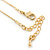 Clear Austrian Crystal Treble Clef Pendant With Gold Tone Chain and Stud Earrings Set - 46cm L/ 5cm Ext - Gift Boxed - view 6