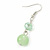 Mint Green Glass & Ceramic Bead Multi Strand Wire Necklace & Drop Earrings Set In Silver Tone - 48cm L/ 4cm Ext - view 10