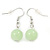 Lime Green Shell & Glass, Crystal Floating Bead Necklace & Drop Earring Set - 46cm L/ 4cm Ext - view 5