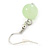 Lime Green Shell & Glass, Crystal Floating Bead Necklace & Drop Earring Set - 46cm L/ 4cm Ext - view 7