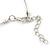 Pink/ Purple/ Violet Glass & Enamel Bead Multi Strand Wire Necklace & Drop Earrings Set In Silver Tone - 44cm L/ 3cm Ext - view 3