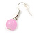 Pink/ Purple/ Violet Glass & Enamel Bead Multi Strand Wire Necklace & Drop Earrings Set In Silver Tone - 44cm L/ 3cm Ext - view 4