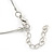 Mint/ Olive/ Light Blue Glass & Enamel Bead Multi Strand Wire Necklace & Drop Earrings Set In Silver Tone - 44cm L/ 3cm Ext - view 4